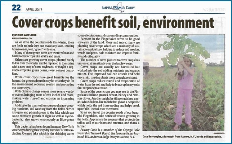 Empire Farm & Dairy article on Cover Crops