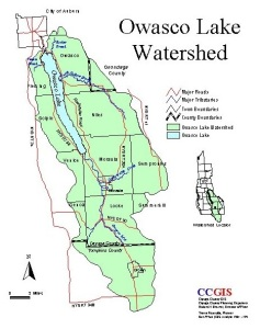 Owasco Lake Watershed Map
