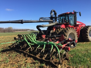 Farm practicing manure injection